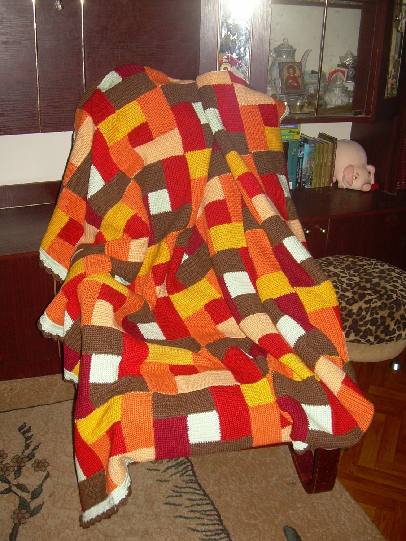 Coperta a maglia tecnica patchwork fatti a mano - Tecnicas de patchwork a mano ...