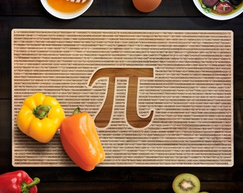 Geek Pi Cutting Board Nerd Graduation Gifts Math 3.14 Maple Cutting Board  Anniversary Gift CB0008