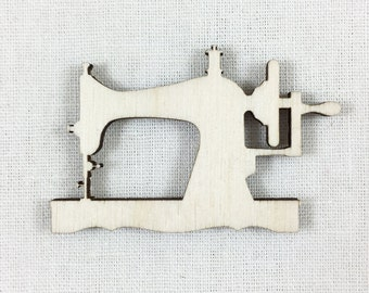 Wood Sewing Machine Laser Cut Shape, Sewing Machine Wood Cut, DIY Craft Supplies