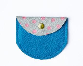 Disco, coin purse, real leather