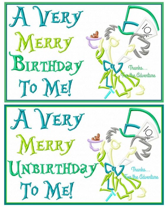 ed03d8f4 ... A Very Merry Unbirthday: Merry Birthday/Merry Unbirthday Mad Hatter  From Alice In