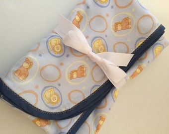 SALE! Flannel Baby Animal Baby Blanket