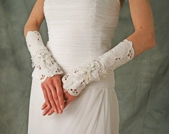 Vintage Lace Doily Fingerless Gloves