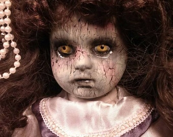 Creepy, Dead, Morbid, Twisted, Horror Porcelain Doll Jessica