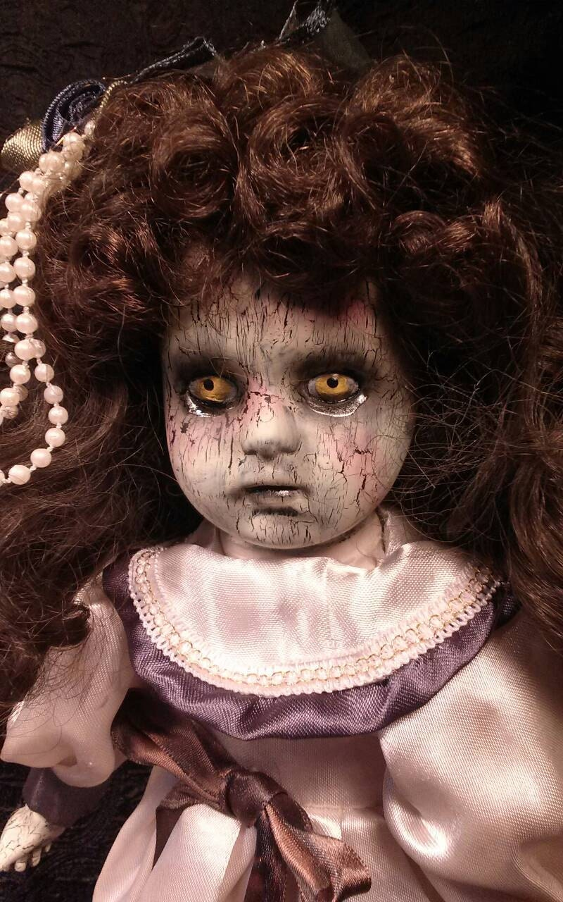 Creepy Dead Morbid Twisted Horror Porcelain Doll Jessica