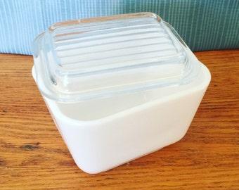 Pyrex Opal 501 // Refrigerator Dish, Small // Marked