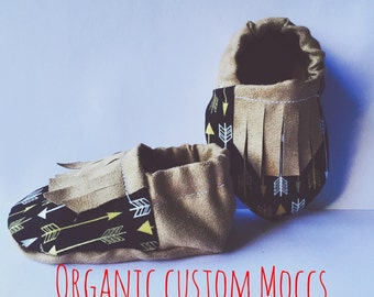 6-12mo Custom Organic Moccs