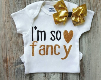 Baby girl clothes, Onesie, Baby girl Onesies, Baby girl bodysuits, Onesies, Baby clothes, Baby shower Gifts, coming home outfit, im so fancy