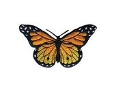 Monarch Butterfly Simplicity Iron-On Applique, Fabric Iron On Patch (451009)