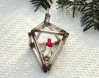 Bugle beads Christmas ornament vintage glass Christmas decor combined construction vintage Christmas glass ornament retro Xmas decoration