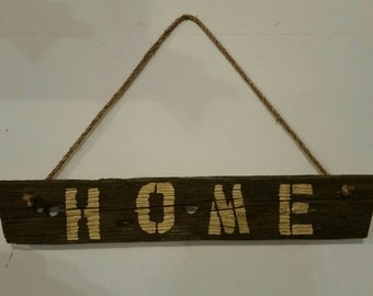 HOME Wall Decor --- Hanging Sign