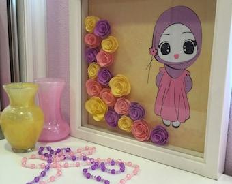 Lovely frame for girls bedroom