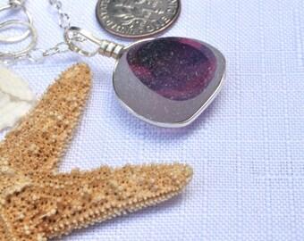 Silver multi sea glass necklace