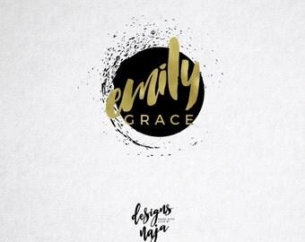 Premade Logo, Design, Gold Logo, Photography Logo, Branding, Elegant, Circle Logo