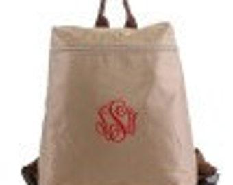 Monogrammable Nylon Fabric Backpack