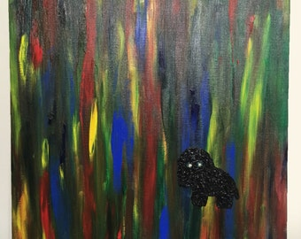I want to be your friend.  Original Painting ,Mixed Media,Oil Painting,Canvas,Art,Colorful