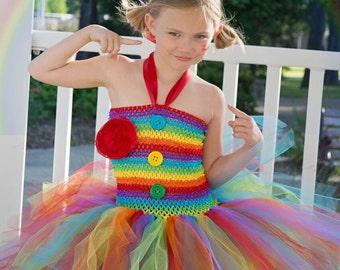 birthday tutu dress - birthday tutu dress - rainbow clown costume - tutu dress - clown costume - rainbow tutu - rainbow dress - rainbow