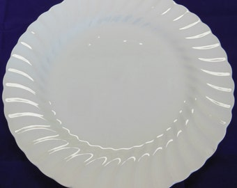 Johnson Brothers White Regency Dinner Plate, Elegant Vintage, Made in England