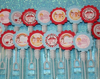 Wizard of Oz inspired Mini Bubble Wands birthday party favors - set of 15