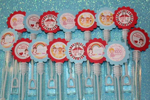 Wizard of oz inspired mini bubble wands birthday party favors for Mini bubble wands