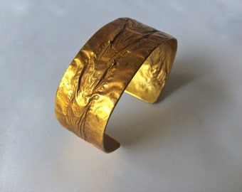 Brass Flame Cuff - Wide