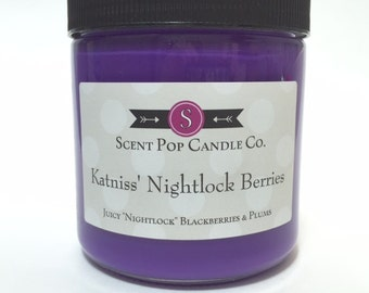 Katniss' Nightlock Berries, The Hunger Games 16 oz soy candle