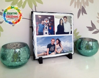 Personalised Rock Photo slate - any of your pictures professionally printed complete with stand and gift box