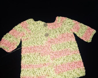 Pink/green Cotton Sweater
