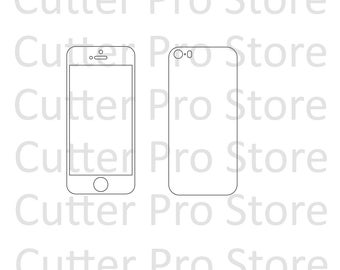 iPhone SE Front and Back Skin Template (SVG File)