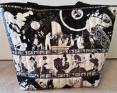 Jazz Era Themed Quilted Hold All Tote bag