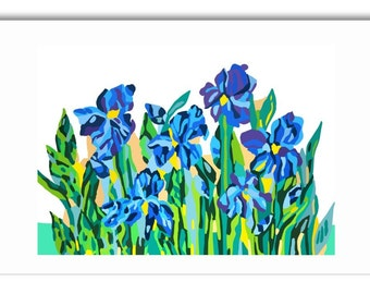 Art Greeting Cards 'Modern Flowers'