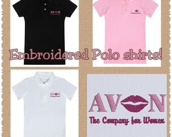 Embroidered Polo AVON consultant shirt