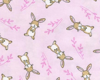 Pink Bunny from the Starry Night Forest Collection by Timeless Treasures