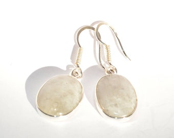Earrings silver Moonstone
