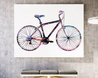 Bicycle Art Print - Colorful Poster - Watercolor Illustration - Wall Poster - Gift Idea
