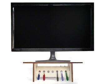 Laser cut wood monitor stand,pen holder,desk organizer,desk organiser,pen organizer,tv riser,monitor riser,tv stand,writer gift,mens gifts