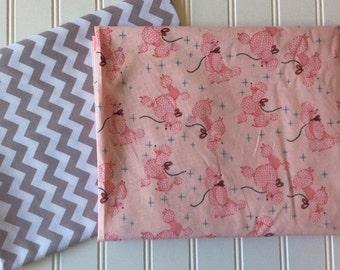 Michael-Miller-Poodles-Pink-Gray-Small-Chevron-Riley-Blake-Designs-Black-White-Medium-Dots-Cotton-Fabric-By-The-Yard-Bundle-Options