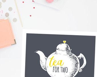 Tea party decorations | Tea party printable | Teapot printable | tea decor | teapot decor |instant download art print | tea art print