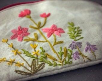 Spring garden zipper pouch, Spring garden coin purse, Spring garden pencil case, Spring garden cosmetic bag, Spring garden gadgetcase