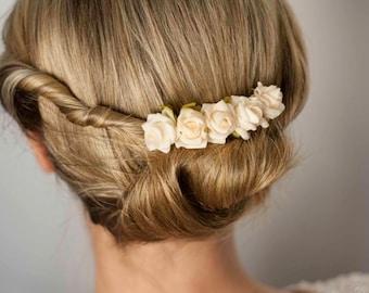 Plug comb I bridal comb I rose comb I hair comb