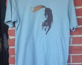 Fancy Fox Screen Printed T-Shirt Cute