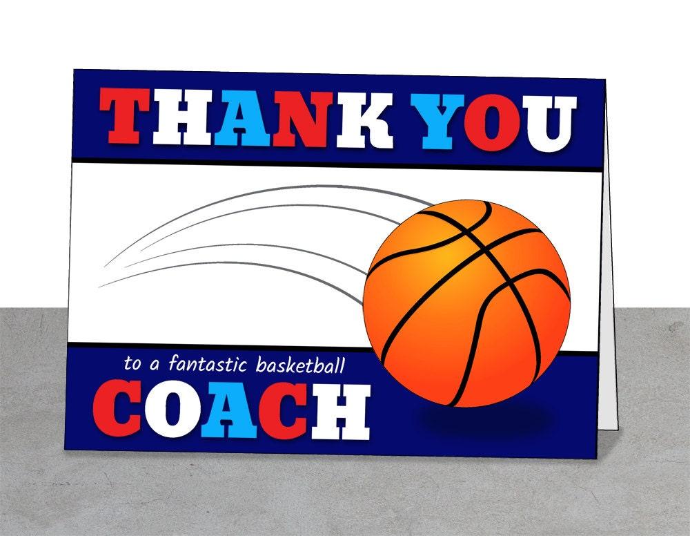 basketball coach gift printable card mentor gift coach card
