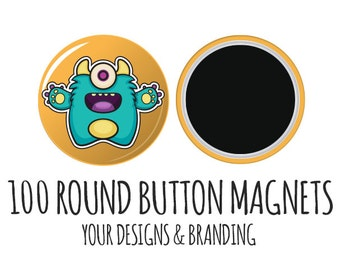 Custom Favor Magnets- 100 Your Logo, Button Magnets, Custom Magnets, fridge Magnets, Save the Date Magnets,wholesale magnets, round magnets