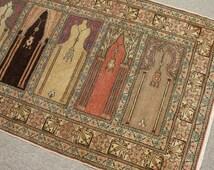 Vintage Antique Runner Rug Anatolian Oushak Runner Rug Turkish Traditional Tribal Organic Wool Handmade Runner Rug Size:   6.5 x 3 Feets