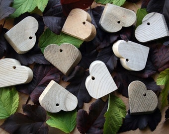 "2,3""in Ash,Oak Wood Hearts 10 Pieces,Wooden Shapes,Romance present, Original gift, Gift for mom, Gift for friend,Gift For Her"