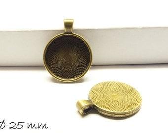 Cabochon versions / Medallion 25 mm, bronze