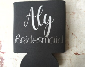 Bachelorette Party Favors - Bachelorette Can Coolers  - Personalized Bridesmaid Gift  - Bachelorette Party - Fun Wedding Favors