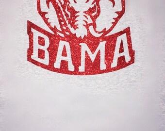 Bama Elephant T-Shirt/ Bama Shirt/ Alabama Elephant/ Alabama T-shirt/ Alabama Football Shirt/ Alabama T-Shirt/ Gifts/ Cute/ Roll Tide