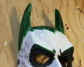 Joker themed batman mask