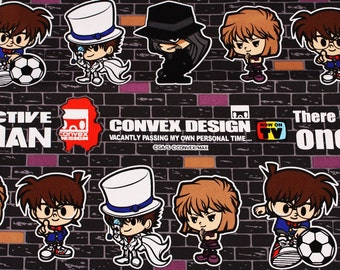 "Detective Conan Character Fabric made in Japan FQ 45cm X 53cm or 18"" X 21"""